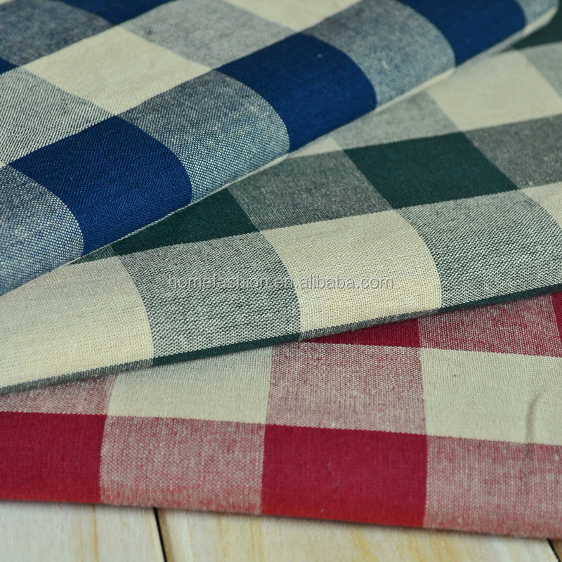 100% cotton yarn-dyed check fabric
