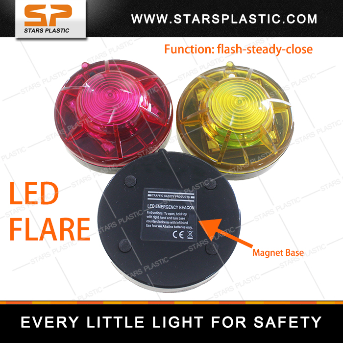 Led road safety flashing light beacon light