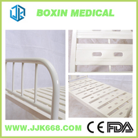 Flat hospital bed making in nursing