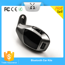 Popular Promotion Bluetooth Car Kit Stereo Handsfree Phone Speaker + TF Card MP3 Player + FM Transmitter USB Car Lighter Charger