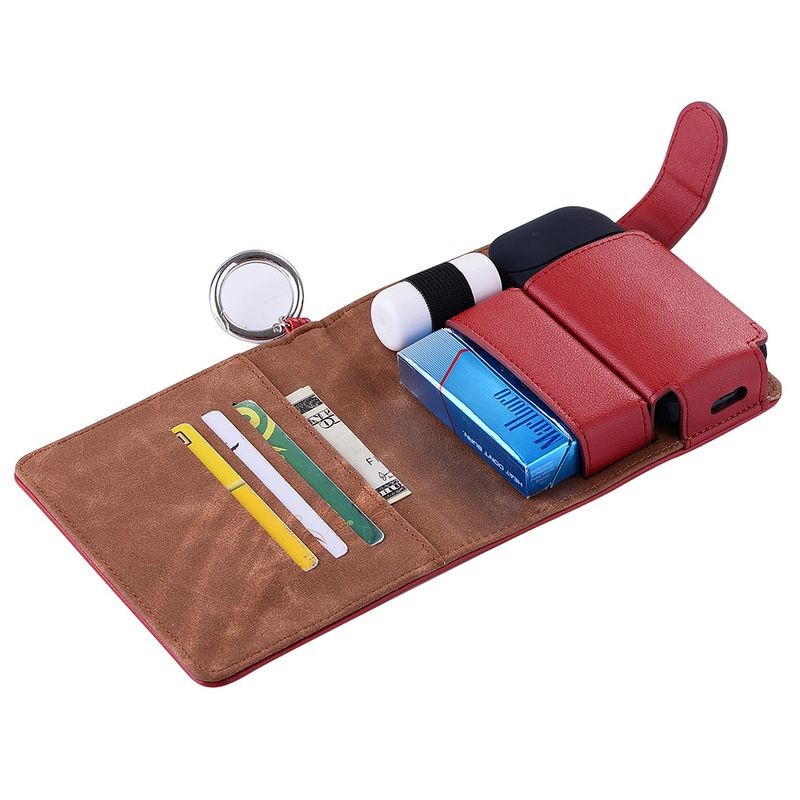 Wallet design PU case for IQOS E-cigarette, Credit card leather case for IQOS