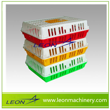 Leon top quality plastic crate for chicken transportation