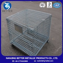 collapsible metal wire mesh box portable storage cage