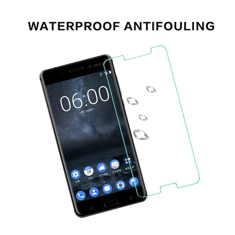 Nuglas Explosion-proof 9H 3D curved tempered glass screen protector blue protective flim for mobile phone for Nokia 6