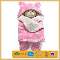 100 polyester fabric printing baby muslin swaddle blanket