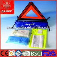Gauke first aid kit for autos/cars/trucks/moto with warning board for motor-vehicle accident,First Aid Suppliers
