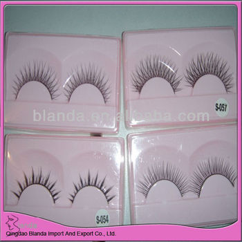 100% brand new natural false strip eyelash