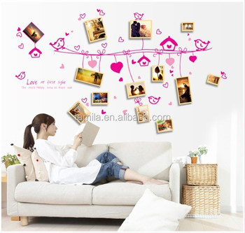 New removable vinyl decorative wall sticker photo frame