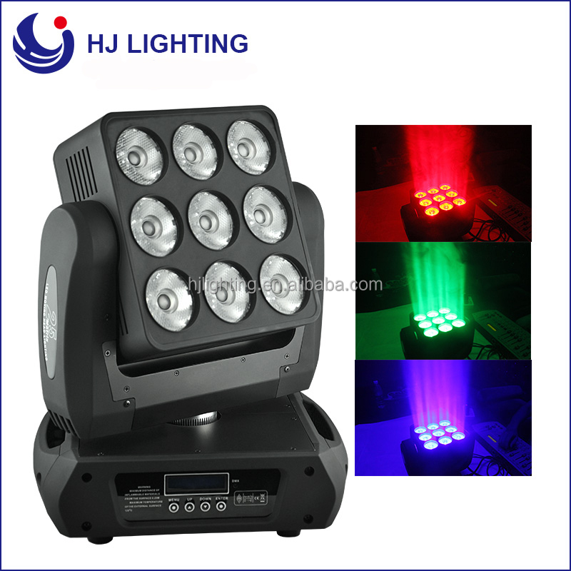 Stage lighting equipment chinese 9x10w dj lights price led matrix rain cover moving head light