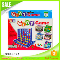 New arrival 6 in 1 games tic tac toe game for children