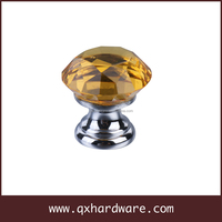 Furniture Handle Clear Crystal Drawer Knob