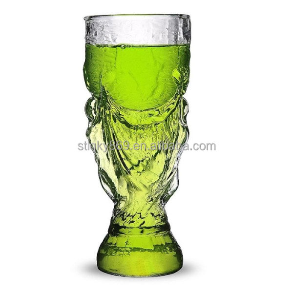 Brazil crystal trophy design world cup 2014 football world cup beer glass