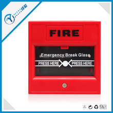 Red Conventional Red Color Manual Call Point Pull Station with Waterproof Cover for Fire Alarms