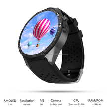 CE RoHS smart watch phone support 3G sim card price with AMOLED touch screen
