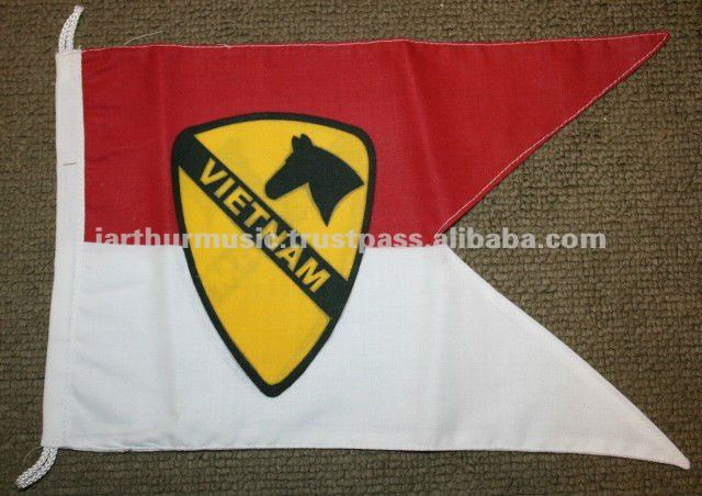 VIETNAM 1ST AIR CAVALRY JEEP VEHICLE FLAG GUIDON