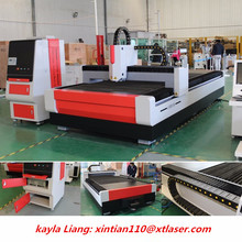 XTLASER fiber laser cutting metal sheet and tube copper cutting machine servo metal gear