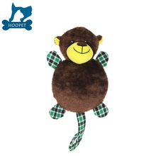 Slender Brown Monkey Squeaky Dog Pet Toy Pet Accessory Cat Toy