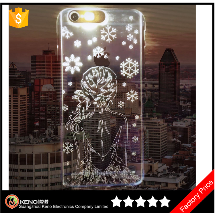 3D Sublimation Laser Carving Clear Beautiful mobile phone case cover for iPhone 6 / 6 plus