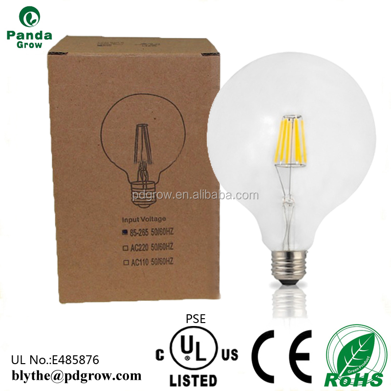 Amber vintage G80 G95 G125 led filament bulb 2W 4W 6W Edison light bulbs E26/E27/B22