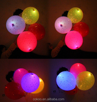 colorful wedding stage decoration led balloon 12'' led light illuminated balloons for party for promotion