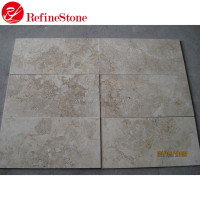 Turkey import cream travertine stone honed, travertine stone flooring marble tile
