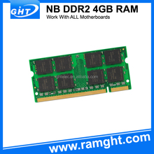 Laptop memory ram sodimm ddr2 4gb 800mhz