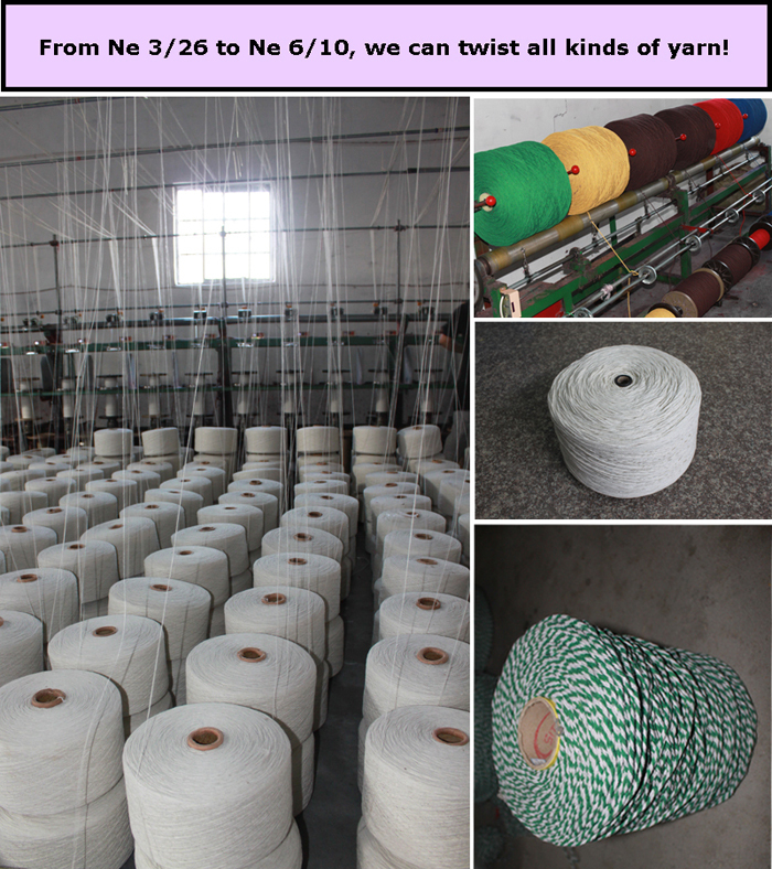 2015 Raw white cotton mop yarn