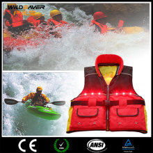 Custom inflatable life jacket with personalized led lighting life saving