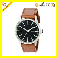 Nixn Men's Sentry 42mm simple fashionable Leather Quartz japan Movement Watch