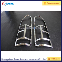 taillamp cover for toyota hiace commuter 2015 tail light trims hiace ABS chrome finished hiace commuter 2016 alibaba china