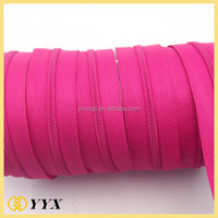 #3 reverse coil zipper for cusion, long chain nylon zipper