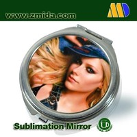 DIY Blank Printable sublimation fashion metal mirror for ladies and girls