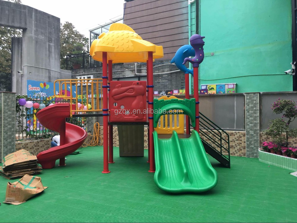Sunflower lovely environmental school playground toys(QX-069D) playground sets stairs slide