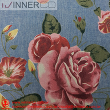 Floral print 100% cotton rose print fabrics for dress
