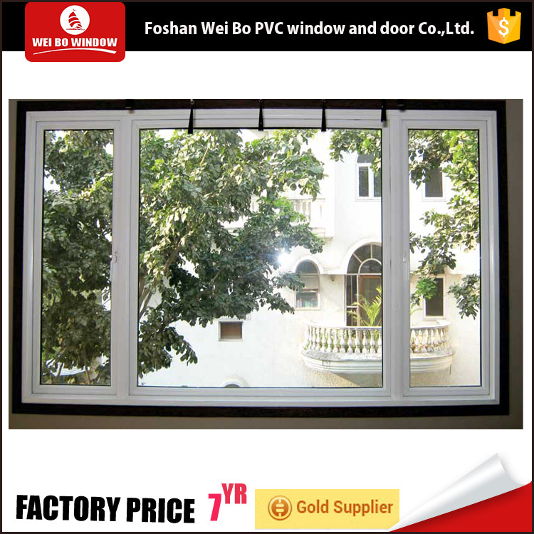 China made white pvc casement window with high quality