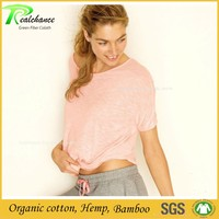 ladies blank bamboo cotton t shirt