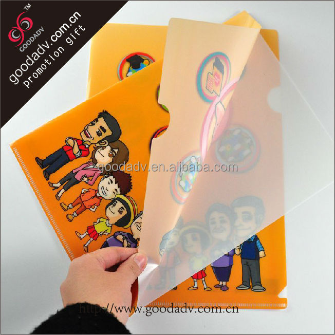 A4 fashion handmade designer Eco-friendly pp office file folders