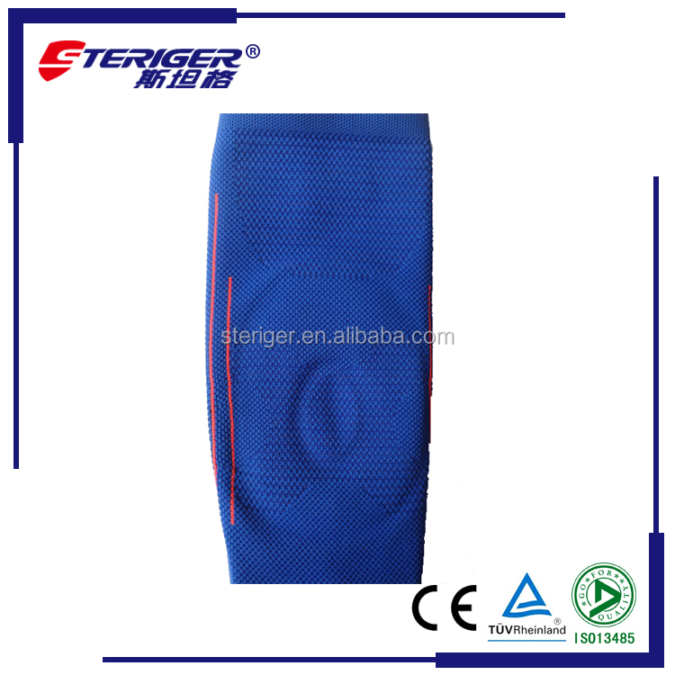 2016 hot sell Sports spandex nylon orthopedic knee wraps