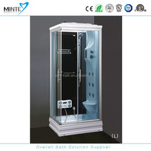 small size square shape italian design shower room with comfortable seat