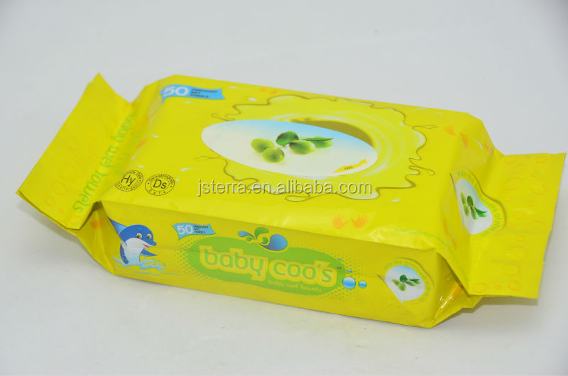 Private Label Economic Packing Biodegradable Leisure Wet Paper Towel