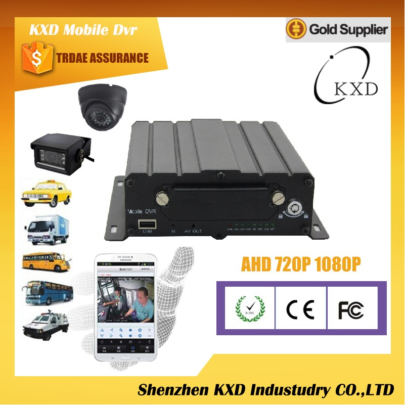 KXD AHD4FW mdvr 4ch hdd WiFi bus dvr made in China