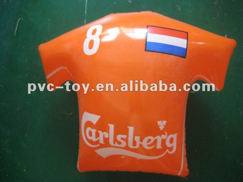 inflatable polo shirt with famous football player names for advertising
