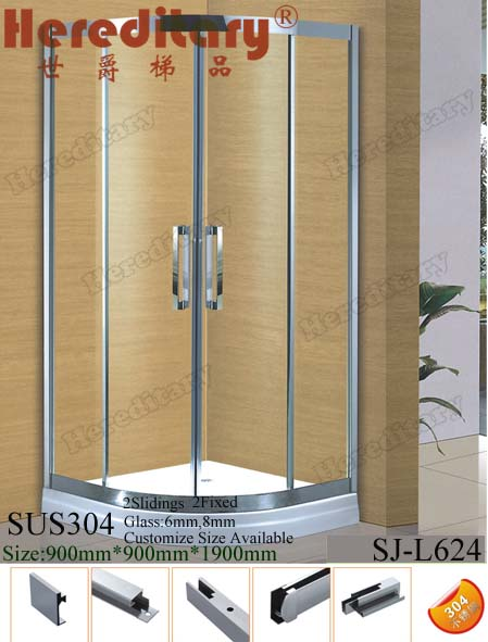 cheap prefab cubicle diamond glass shower rooms / shower room cabins