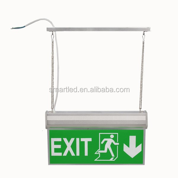Wall Mounted Exit Lights : Emergency Exit Led Light Wall Mounted Edge Lit Electric Emergency Exit Sign Se-0301 Ce Rohs 3 ...