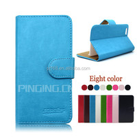 factory price phone cases wallet leather cover case for Lenovo A66