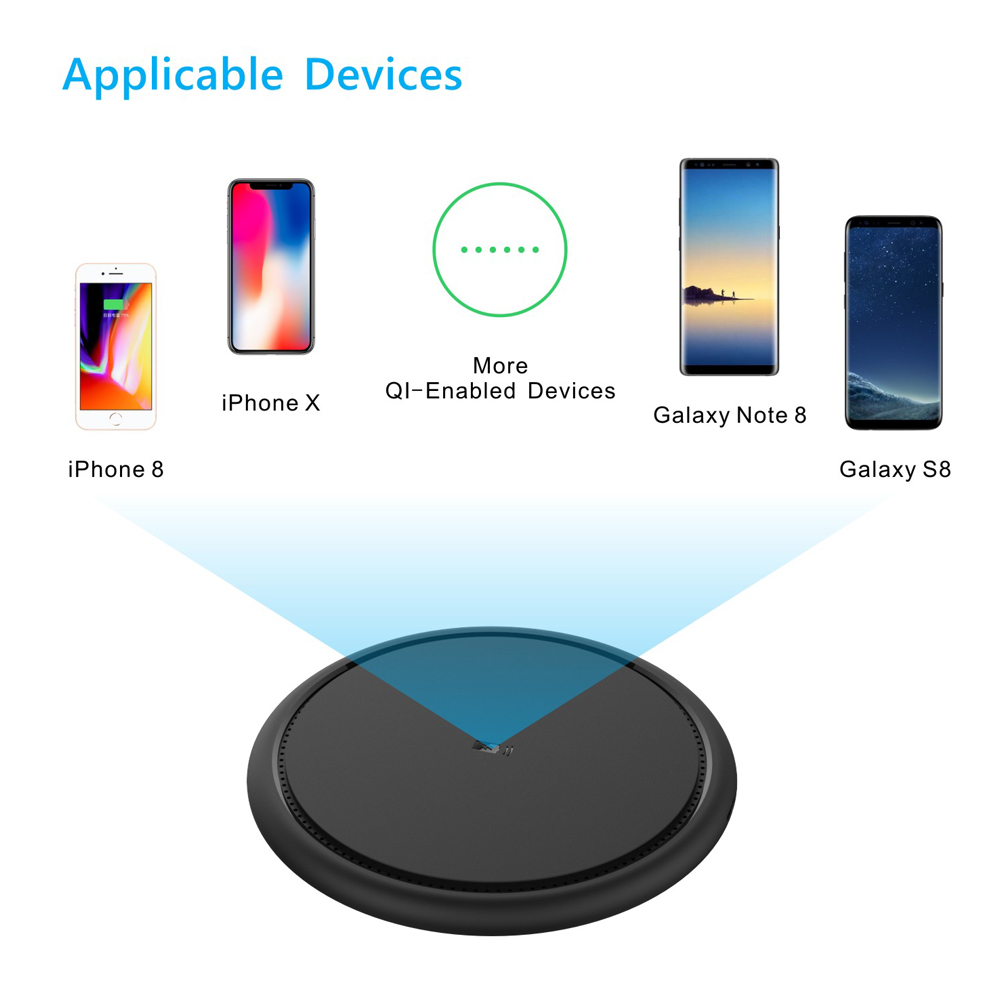 7.5W Fast Wireless Phone Charger For Iphone X 8