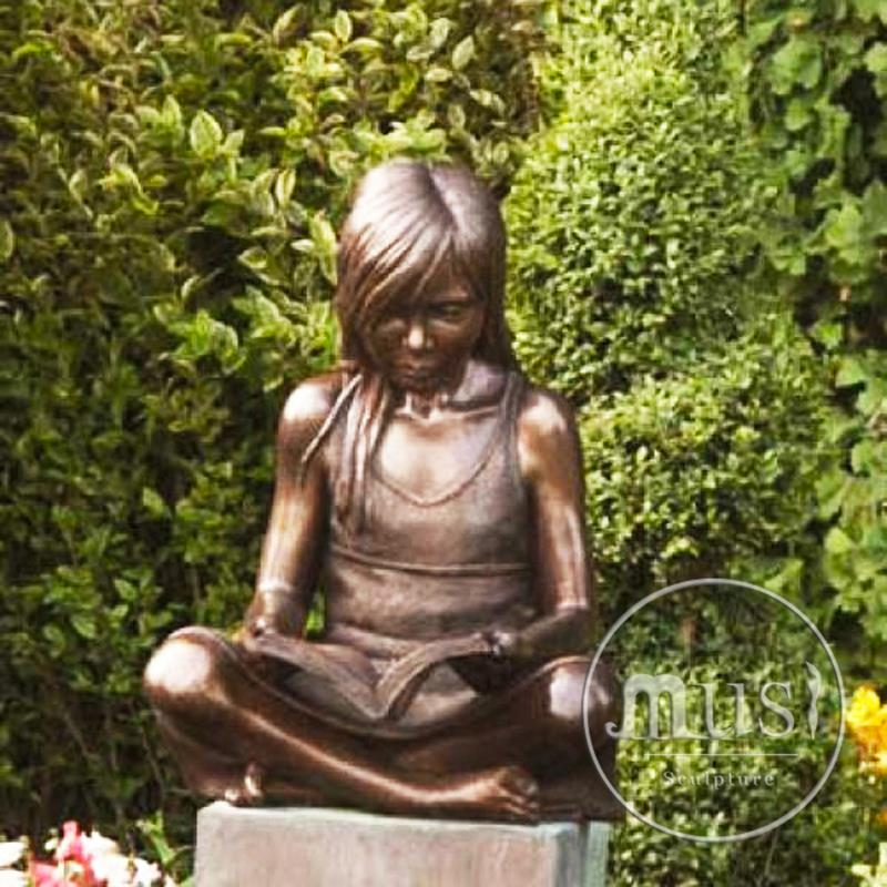 Hot Selling bronze boy reading book statue