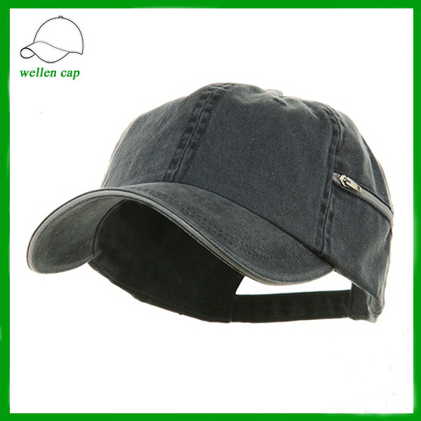 100% organic cotton folding functional baseball cap with pocket