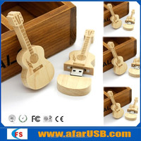 Popular Natural guitar wooden usb 16gb