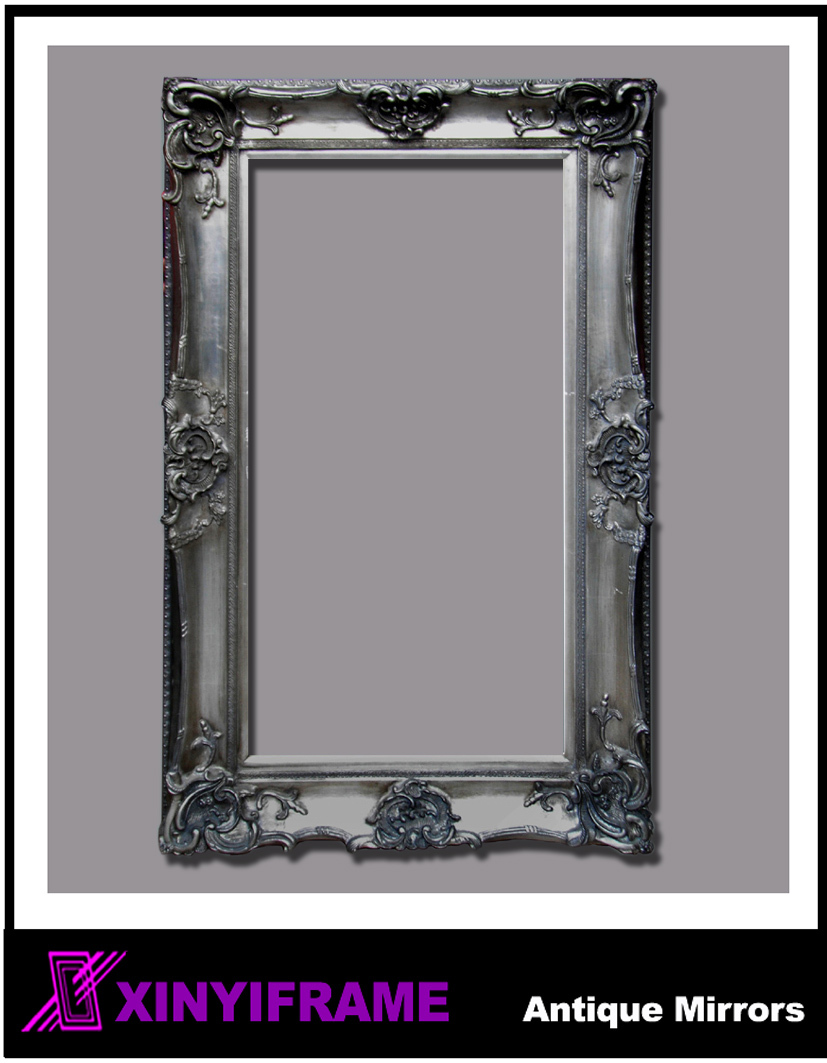 Hot sale euro style decorative mirror large mirror wall Large wooden mirrors for sale